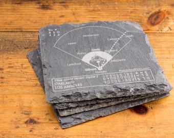 Dodgers Greatest Plays - Slate Coasters (Set of 4)