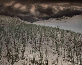 "Fine Art Photography - Stormy Sleeping Bear Sand Dunes Photo - 5"" x 11"" Premium Photograph"