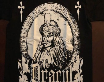 Count Dracula Vlad The Impaler Seal White Ink shirt