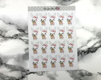 Bunny Goes Grocery Shopping Planner Sticker C002