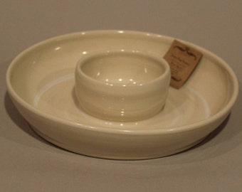 Chip and Dip Platter Cream Colored