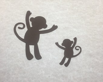30 Die Cut Cardstock Monkeys