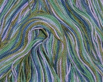 Hand painted Superwash Merino Wool Sock Yarn GRAPE VINES blue lavender green