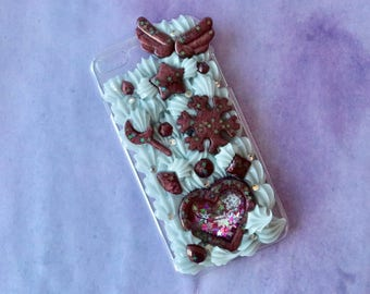 Fits iPhone 7/8+ Shaker Maroon Decoden Case