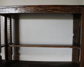 Rustic Entry Way Table from Reclaimed Wood