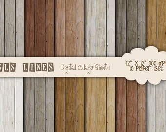 Wood Digital Paper with rustic natural texture warm nature colors, beige, brown, rust, wood digital paper backgrounds