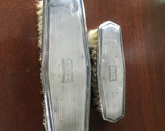 Set of 2 Sterling Antique Lint Brushes