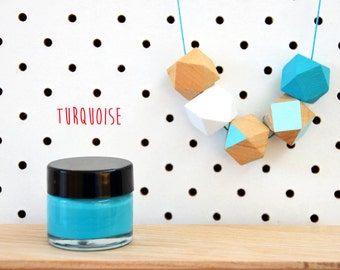 Wood Paint  - Turquoise - 15ml jar - 10 Beautiful Colours Available.