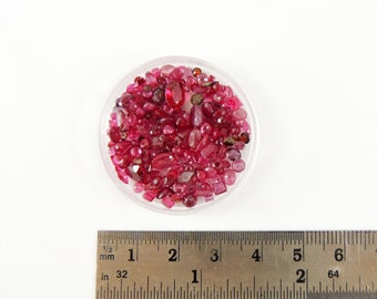 25 CTW Loose Ruby Gemstones Faceted Ruby Gemstones Loose Ruby Lot 25 CT Ruby Gemstones Salvaged Loose Ruby Gemstone Lot Natural Multi Shape