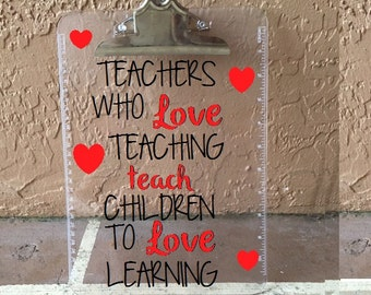 Custom Teacher, Personalized Clipboard, Teacher Clipboard, Teacher Gift, Teacher Appreciation Gift, Personalized Christmas Gift