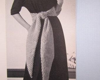 Knitted Women's Cummerbund Belt Pattern PDF, 1950's Vintage Pattern B-500