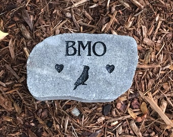 Personalized pet memorial stone Customize Text and images the way you want (Thick quality concrete no plastic resin used) bird grave marker