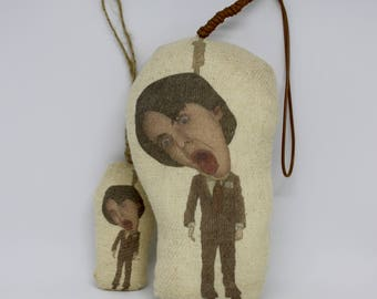Harold and Maude Bud Cort Inspired Scented Car Air Freshener or Plush Christmas Bauble Decoration Hanging Doll/Unusual Gift Idea/Ruth Gordon