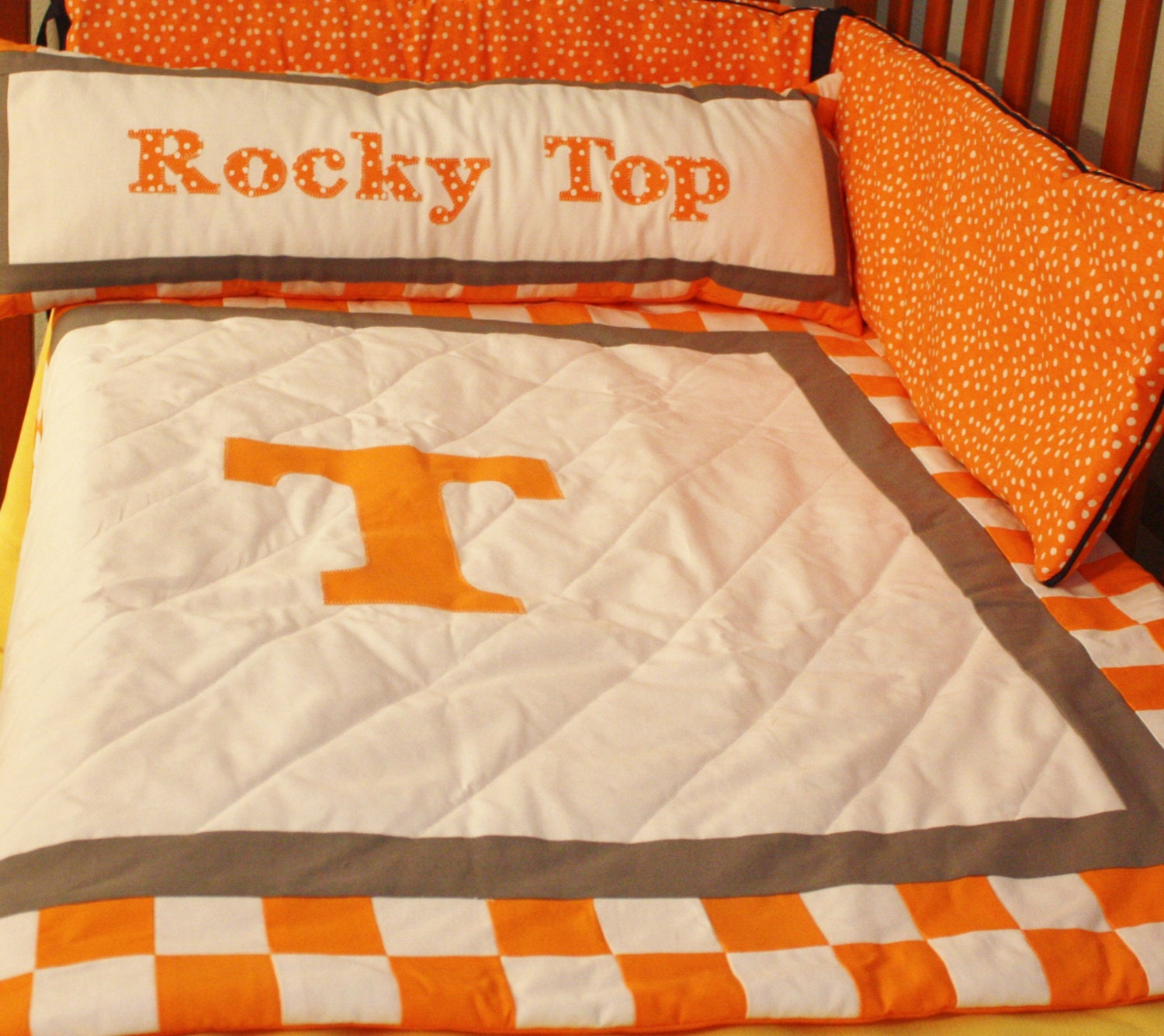 Tennessee Volunteers Baby Bedding Tennessee Quilt