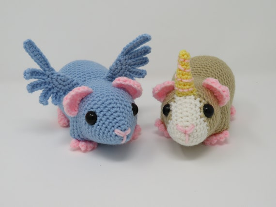 Amigurumi Guinea Pig : Updated unicorn and pegasus guinea pig crochet pattern