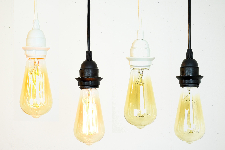 Cord Set With Bulb Socket - Black Pendant Light - White Pendant ...