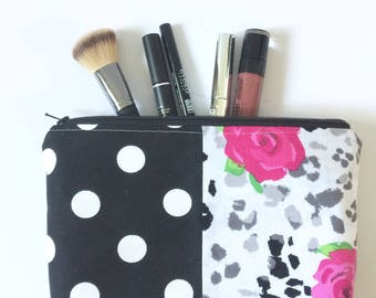 Unique Makeup Bag Womens Cosmetic Bag One of a kind Gift clutch bag