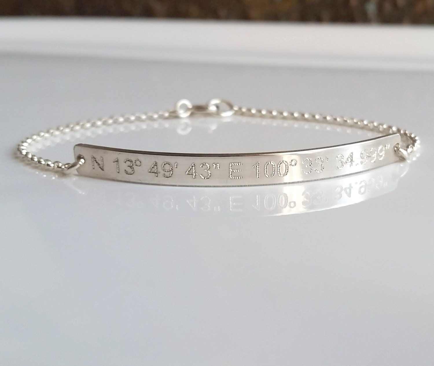 bracelet products latitude modern personalized bazaar the coordinate longitude