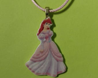 Ariel in a Pink Gown Necklace