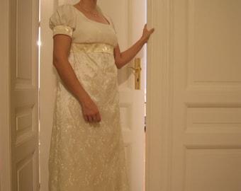 Regency dress // Regency ball gown, Jane Austen dress // Simple style regency ball gown MADE TO ORDER