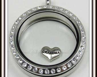 Grandma Floating Charm for Glass locket / Floating Locket / Memory Locket