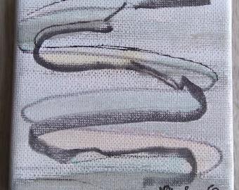 Watercolor on canvas 10 x 10 cm
