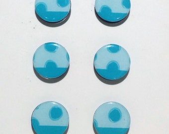 Blue Dots Fridge Magnets / Refrigerator Magnets / Magnet Set