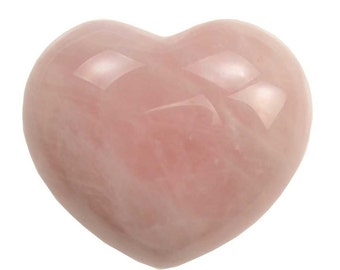 "Rose Quartz Heart ~1 3/4"""