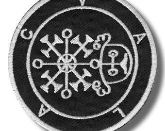 Sigil of Valac - embroidered patch, 8x8 cm