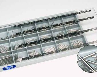 Watch Band Spring Bar Assortment 450pc Pin Band Link Steel Jewelers  Stainless WA 700-053