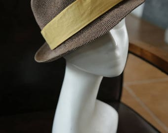 And the paper woven bowknot Sir Straw hat hat