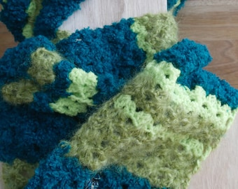 turquoise and green scarf, eco-friendly and ethical