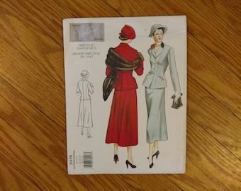 Vintage Sewing Pattern - Vogue 2476 - V2476 - Vogue Vintage Model - Skirt Suit - Skirt and Jacket Pattern - 34 - 38 Bust - 1940s Pattern