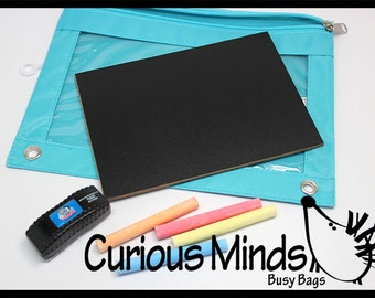 Busy Bag:  Travel Chalk Board with Eraser and Chalk