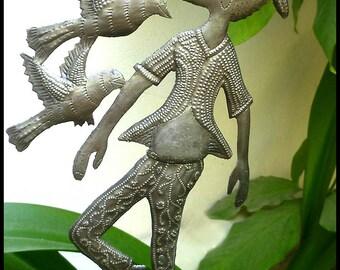 Garden Metal Art, Plant Stick, Yard Art, Metal Plant Stake, Outdoor Metal Art, Garden Decor, Metal Plant Marker, Garden Art - PS-1811