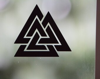 Viking Vinyl Decal - Valknut 2