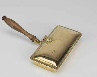 Brass and Wood Silent Butler