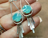 Hammered Crystal Earring ...