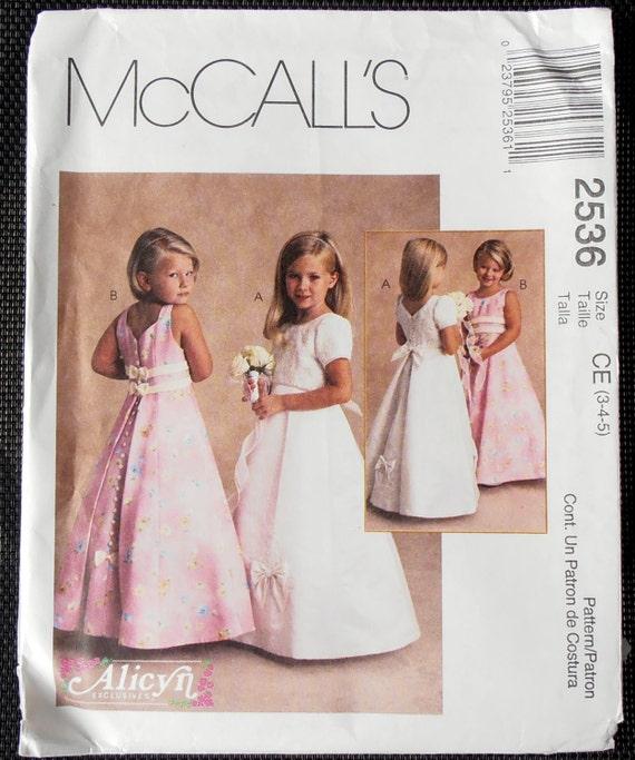 Flower girl dress, McCalls 2536, Girls Dress Pattern, Fancy Dress ...