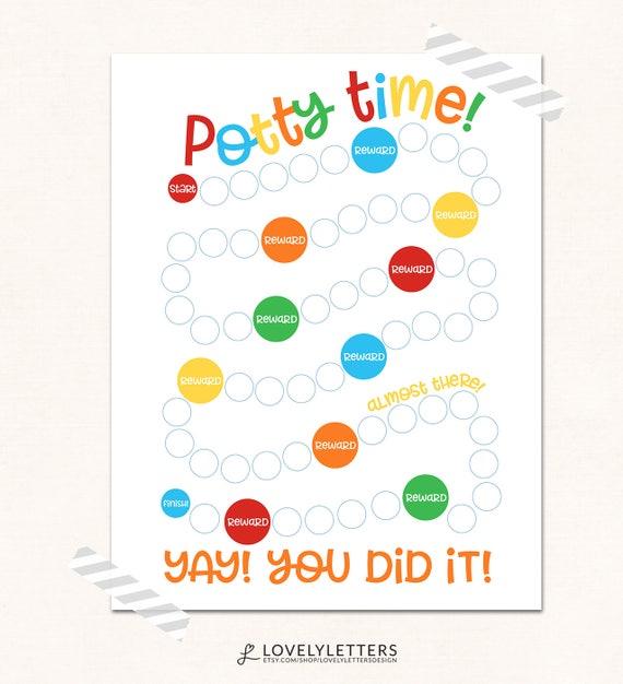Printable Potty Training Chart: Potty Chart Printable / Potty Training Print / DIGITAL / Potty