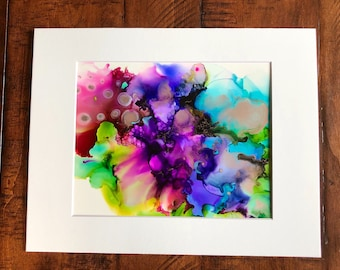 Enchanted garden - Alcohol ink painting