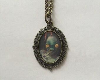 Oddworld Abe Bronze Cameo Necklace