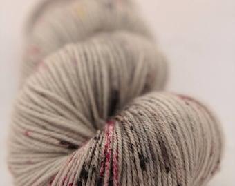 Hand-dyed yarn - sock yarn - superwash - merino - dyed-to-order - speckles - ROCHER