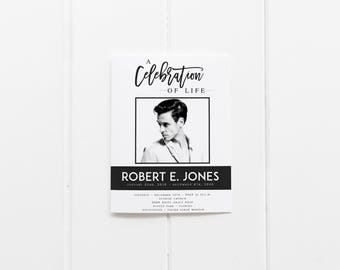 Celebration Of Life Program Etsy - Celebration of life template