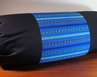 Yoga Bolster with Hand Woven Guatemalan Fair Trade Fabric