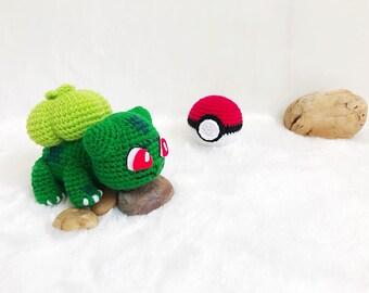 Bulbasaur Pokemon Crochet, Nursery decor, Pokemon amigurumi, Crochet Pokemon, Handmade crochet Pokemon, Gift, Birthday gift, Toy, Dolly