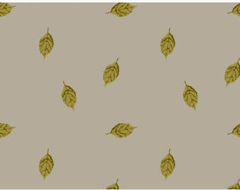 Leaves in Biscuit French terry Price -  Lilly and Mimi Fabric Shop UK