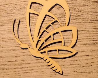 Butterfly wooden Littles 1186 embellishment
