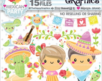 Mexican Clipart, 80%OFF, Mexican Graphic, COMMERCIAL USE, Mexican Party, Planner Accessories, Kawaii Clipart, Cinco de Mayo, Mexico Clipart