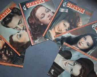 6 CineVie French Film Magazines/French Vintage Movie Magazines/Marlene Dietrich French Vintage Film Magazine/Hollywood Film Magazines